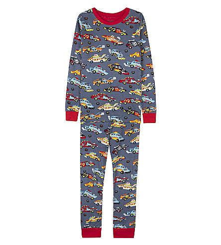 HATLEY Race car cotton pyjama set 4-12 years (Navy