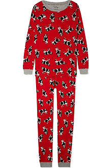 HATLEY Cows on red pj set 2-12 years