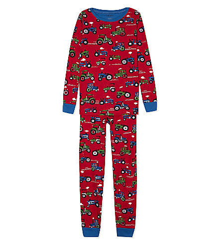 HATLEY Tractor cotton yjamas 2-12 years (Red