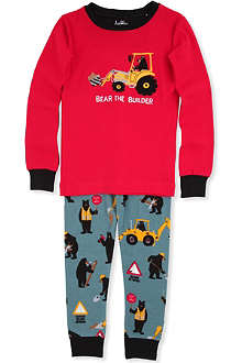 HATLEY Construction-print pyjamas 2 - 8 years