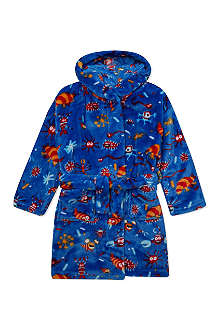 HATLEY Creatures print fleece robe S-L