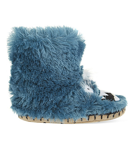 HATLEY Ice Monster slippers 5-13 years (Turquoise