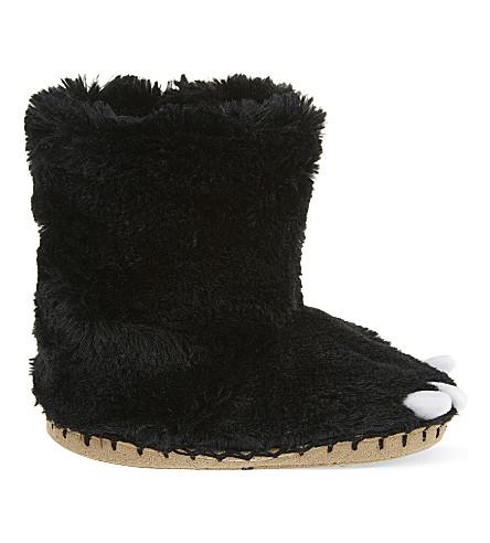 HATLEY Bear paw slippers s-l (Black