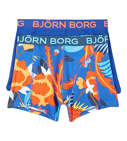 bjorn borg boxer shorts twin pack 1 14 years. Black Bedroom Furniture Sets. Home Design Ideas