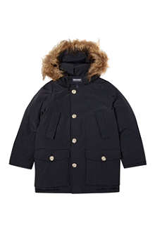 WOOLRICH Down feather faux-fur parka 2-16 years