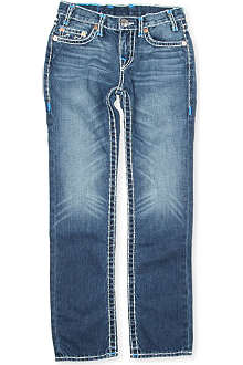 TRUE RELIGION Super T blue detail slim-fit jeans 4-14 years