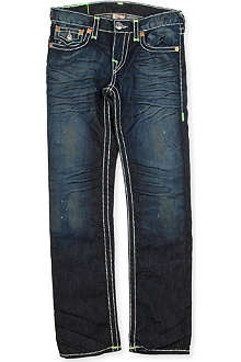 TRUE RELIGION Super T green detail jeans 4-14 years