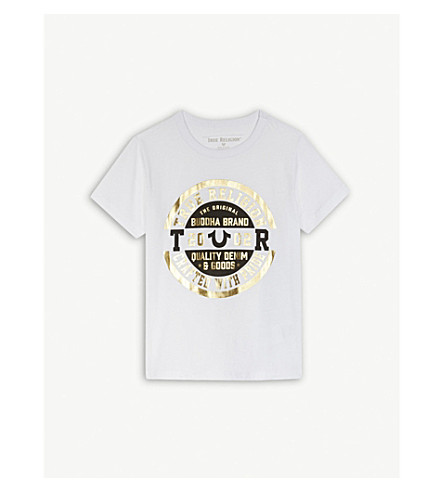 TRUE RELIGION Logo cotton t-shirt 4-6 years (White
