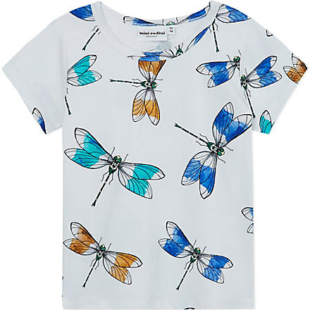 MINI RODINI Dragonfly print t-shirt 2-11 years (White