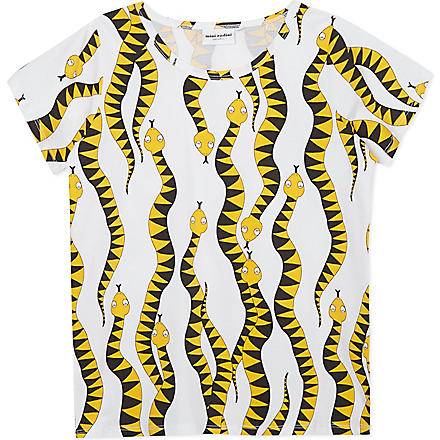 MINI RODINI Python print t-shirt 2-11 years (Yellow
