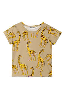 MINI RODINI Giraffe print short-sleeved t-shirt 2-11 years