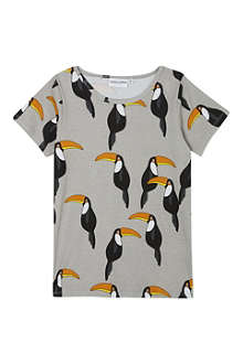 MINI RODINI Mr toucan ao print ss tee