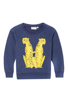 MINI RODINI Mr Cheetah sweatshirt 2-11 years