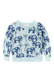 MINI RODINI Mr Elephant print sweatshirt 2-11 years