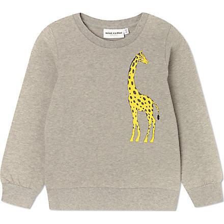 MINI RODINI Mr Giraffe sweatshirt 2-11 years (Grey