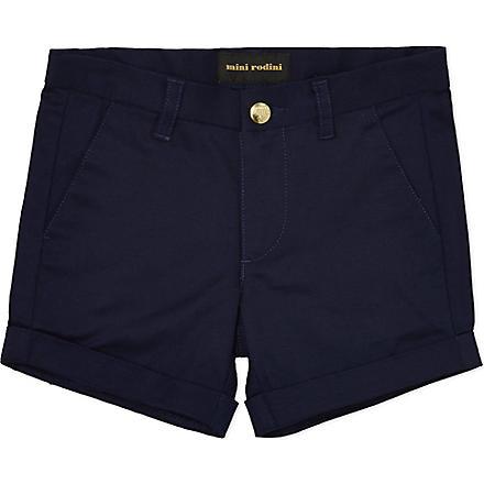 MINI RODINI Classic chino shorts 2-11 years (Navy