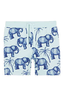 MINI RODINI Mr Elephant sweat shorts 2-11 years
