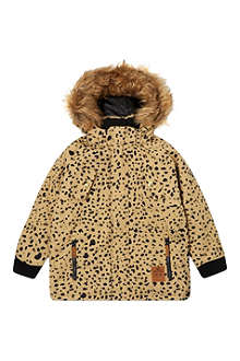MINI RODINI Animal print eco parka 2-11 years