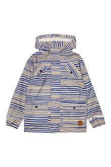 MINI RODINI Striped rain jacket 2-11 years