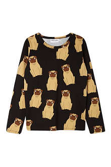 MINI RODINI Pug long-sleeve t-shirt 2-11 years