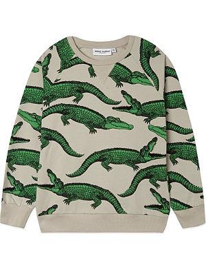 MINI RODINI Crocodile cotton sweatshirt