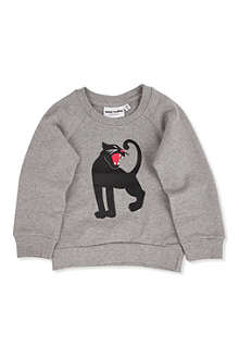 MINI RODINI Panther print sweatshirt 3 months-11 years