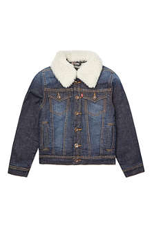 LEVI'S Denim white collar jacket 2-16 years