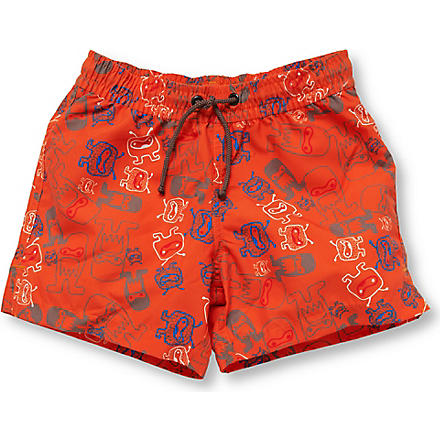 SUNUVA Alien swimming shorts 1-12 years (Orange