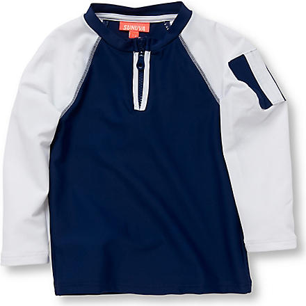 SUNUVA SPF 50+ rash vest 6 months-12 years (Navy
