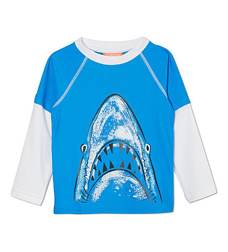 SUNUVA Shark rash vest 1-12 years (Blue