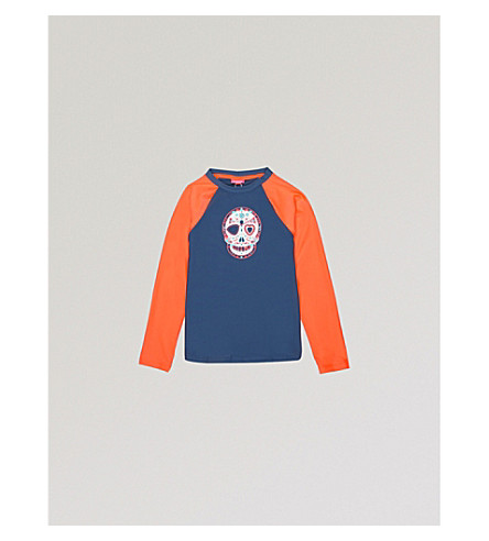 SUNUVA Skull print rash top 5-10 years (Mexican+skull