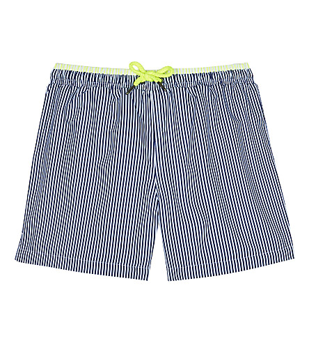 SUNUVA Striped swim trunks 3-12 years (Navy/neon