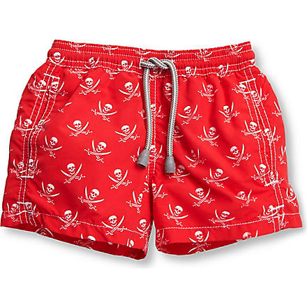 ST BARTHS Skull swim shorts 2-16 years (Red