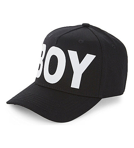 BOY LONDON Logo cotton cap (Black/white