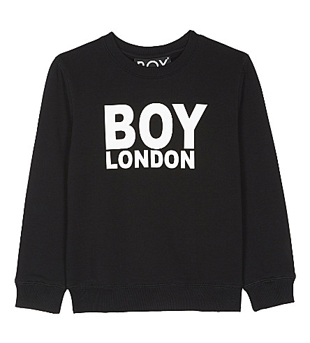 BOY LONDON Logo cotton jumper 3-12 years (Black/white