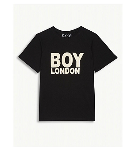 BOY LONDON Foil logo cotton T-shirt 13-16 years (Black/gold