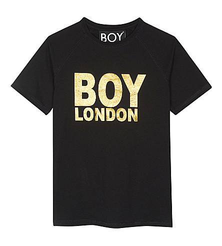 BOY LONDON Logo cotton T-shirt 3-12 years (Black/gold