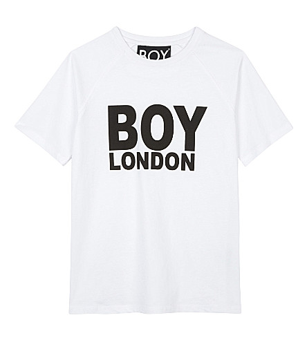 BOY LONDON Logo cotton T-shirt 3-12 years (White/black
