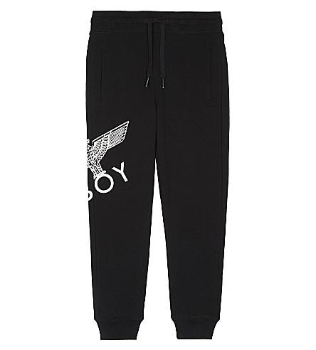 BOY LONDON Eagle cotton-blend jogging bottoms 3-12 years (Black/white