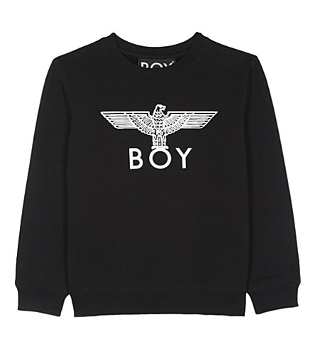 BOY LONDON Eagle cotton-blend jumper 3-12 years (Black/white