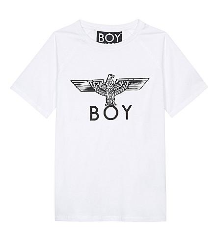 BOY LONDON Eagle print cotton T-shirt 3-12 years (White/black