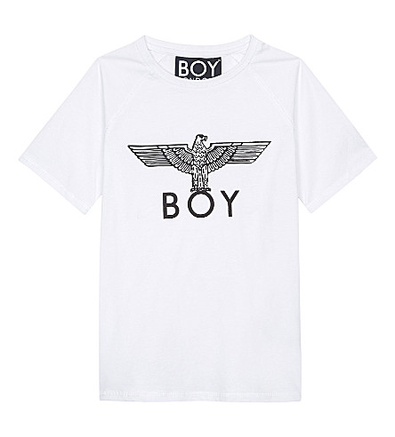 BOY LONDON 鹰印花棉 T 恤 3-12 岁(白色/黑色