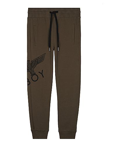 BOY LONDON Logo print cotton jogging bottoms 3-12 years (Khaki