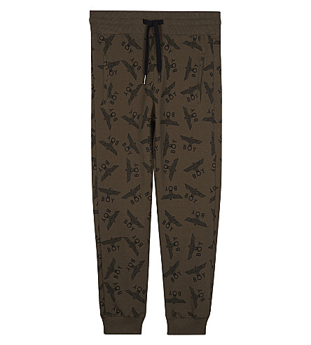 BOY LONDON Logo print cotton jogging bottoms 3-12 years (Khaki
