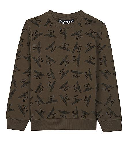 BOY LONDON Logo print cotton jumper 3-12 years (Khaki