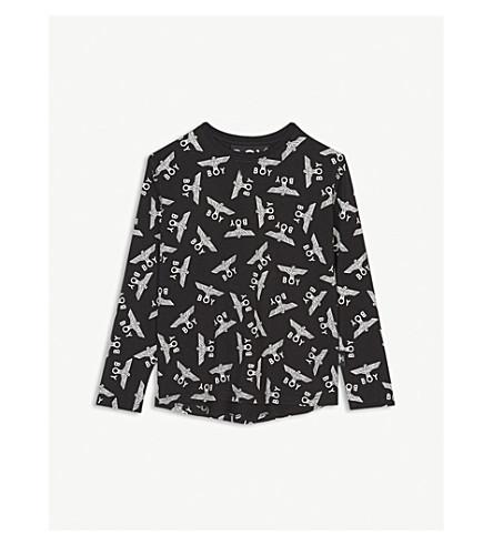 BOY LONDON Eagle logo cotton long sleeve T-shirt 3-16 years (Black