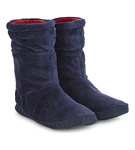 JOULES Padabout fleece slipper socks (French+navy
