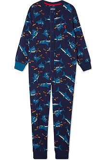 JOULES Shark print onesie 7-12 years