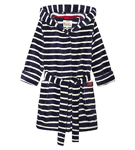 JOULES Striped robe 3-12 years (Navy+striped