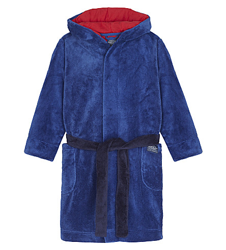 JOULES Dinosaur fleece dressing gown 4-12 years (Dinosaur